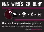 """Überwachungsstaaten wegputzen! Linksradikaler Block auf der Demonstration """"Freiheit statt Angst"""" am  10.9.2011 in Berlin"""
